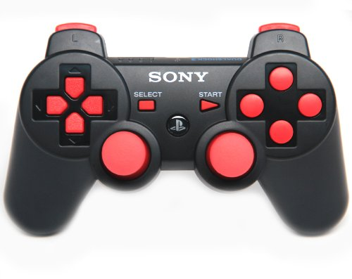 Ps3 Black/red Rapid Fire Modded Controller 30 MODE for COD Ghosts Black Ops 2 Cod Mw3 Sniper Breath Jump Shot Jitter Quick Scope Auto Aim nuclear ps3 rapid fire custom modded controller 30 mods for cod ghost black ops 2 cod mw3 gow