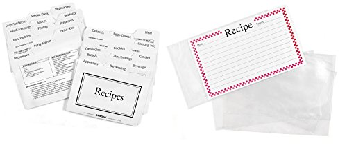 Labeleze - Recipe Cards with Dividers For Easy Recipe Storage 4x6 Inches (Recipe Box Dividers 4x6 compare prices)