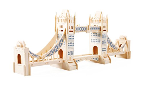 Toys of Wood Oxford puzzle 3D di legno London Tower Bridge
