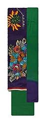 Neel Women's Cotton Unstitched Salwar Suit (Purple and Green)