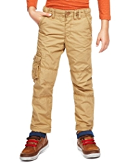 Pure Cotton Adjustable Waist Cargo Trousers