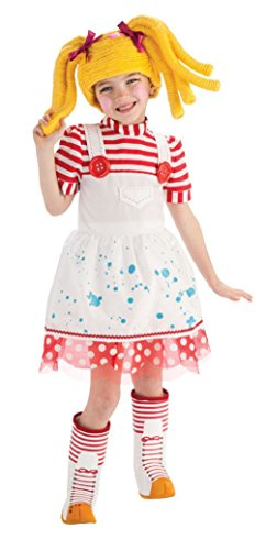 [Lalaloopsy Spot Splatter Splash Costume Toddler 2-4 Rag Doll Dress Wig Boot Tops] (Lalaloopsy Adult Costumes)