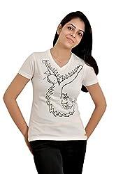 Baboon Women's Shirt (baboon-8_White_Medium)