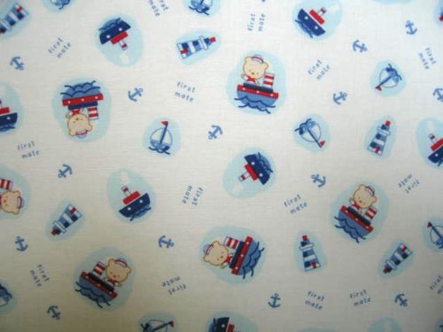 SheetWorld Fitted Cradle Sheet - Sailing Bears - Made In USA
