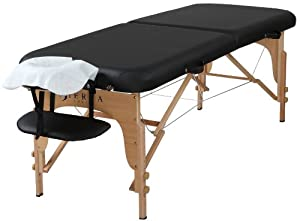 Sierra Comfort Preferred Portable Massage Table, Black