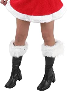 Adult Women's Santa Claus Boots (Size:Large 9-10)