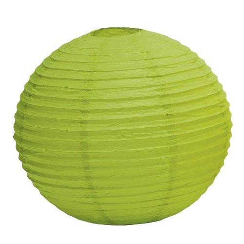 Weddingstar Round Paper Lantern, Large, Candy Apple Green