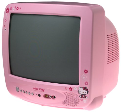 """Hello Kitty: 13"""" Square Color Tv With On Screen Display"""
