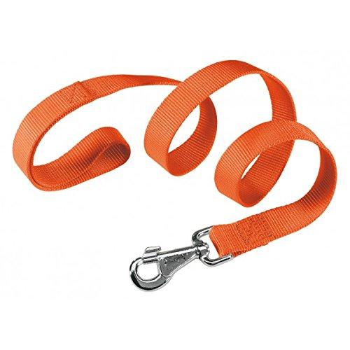 Ferplast 77179939 Club G20/120 Guinzaglio per Cani in Nylon Resistente, 20 mm x L 120 cm, Arancione