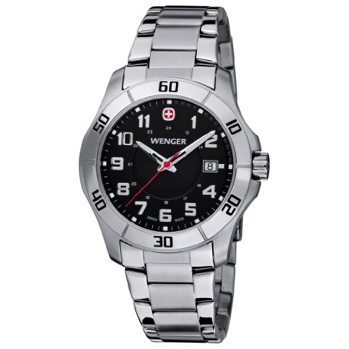 Men's Wenger 70487 Alpine Watch with Stainless Steel Band