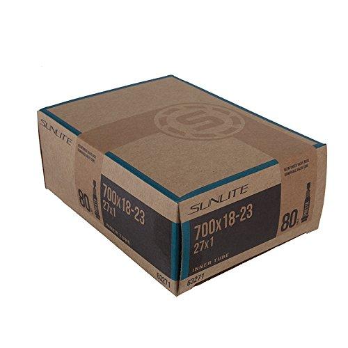 Sunlite Standard Presta Valve Tubes, 700 x 18 - 23  / 80mm, Black