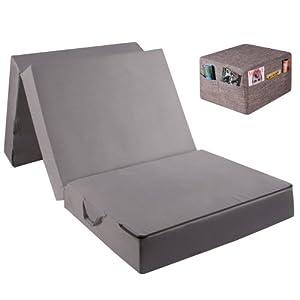 gigapur matelas pliable en mousse pour adulte d pli env 195 x 75 x 15 cm husse pfeffer und. Black Bedroom Furniture Sets. Home Design Ideas