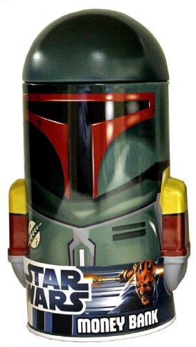 Star Wars Boba Fett Shaped Tin Bank - 1