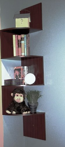 4D Concepts Hanging Corner Storage, Chocolate