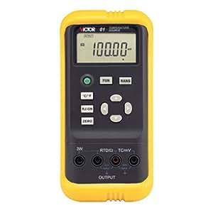 VICTOR 01 Calibrateur de température Voltmètre Testeur de Résistance thermique DVC Sortie (100mV/1000mV) 5-chiffre Grand écran LCD