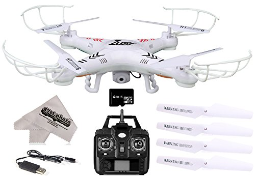 ZuZo 2.4GHz 4 CH 6 Axis Gyro RC Quadcopter Drone with 2MP Camera