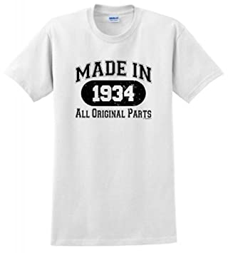Made In 1934 Funny 80th Birthday Distressed Look T Shirt
