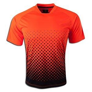 Vizari Ventura Short Sleeve Goalkeeper Jersey, Neon Orange/Black, Size Adult X-Large
