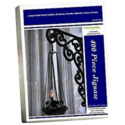 Photo Jigsaw Puzzle of Lamp in Saint Seurin basilica, Bordeaux, Gironde, Aquitaine, France, Europe