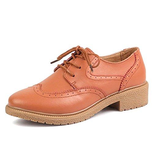 scarpe Ms. primavera/scarpe basse laccio di cuoio/scarpe casual-A Lunghezza piede=24.8CM(9.8Inch)