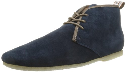 Schmoove Men's Crep'S Club Split Lace-Up Flats Blue Bleu (Navy) 7 (41 EU)