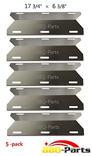 Hongso SPA231 (5-pack) SS BBQ Gas Grill Heat Plate, Heat Shield, Burner Cover, Vaporizor Bar, and Flavorizer Bar for Costco Kirland, Glen Canyon, Jenn-air, Nexgrill, Sterling Forge, Lowes (17 3/4 (Ss Bbq compare prices)