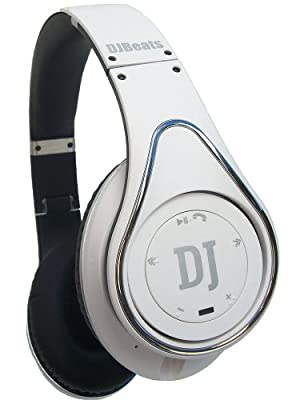 DJ Beats Stereo Headphones On-ear Noise Cancellingr Bluetooth with Wireless Music Streaming and Hands-free Calling (White)