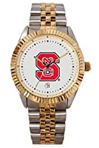North Carolina State Wolfpack Mens Executive Stainless Steel Watch