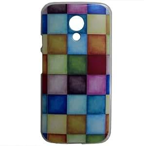 Casotec Clear Sides Print Design Hard Shell Back Case Cover for Motorola Moto G 2nd Gen
