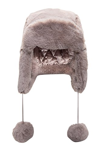 mountain-warehouse-bonnet-femme-chapkas-russe-hiver-fourrure-cache-oreilles-gris-taille-unique
