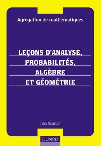 Recueil d'exercices et de problèmes d'analyse mathématique ...