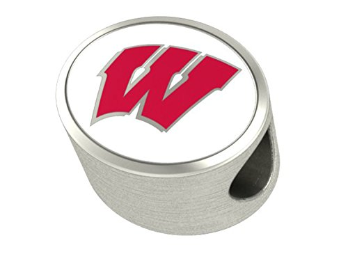 Wisconsin Badgers Bead Fits All Beaded Charm Bracelets