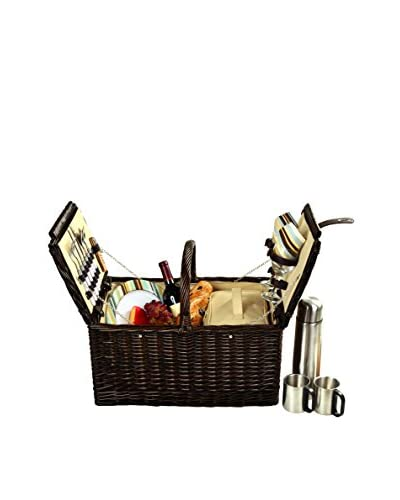 Picnic at Ascot Surrey Basket For 2 with Coffee, Forest Green
