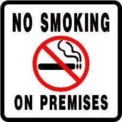 NO SMOKING ON PREMISES health medical sign Picture