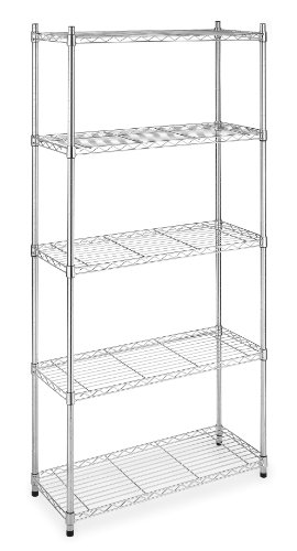 Whitmor Supreme 5-Tier Shelves, Chrome