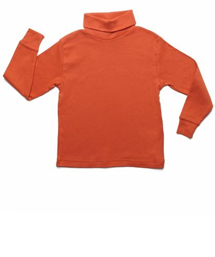 Leveret Solid Turtleneck 100% Cotton (2-5 Toddler) Variety of Colors (3 Toddler, Orange)