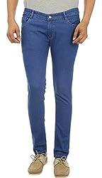 Forever19 Men's Slim Fit Jeans (LFF-1011, Blue, 28)