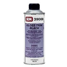 SEM 39068 Black Gloss Trim Acrylic Coating - 1 Pint