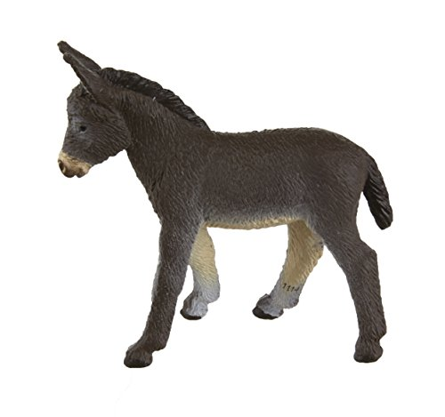Safari Ltd Safari Farm Donkey Foal - Realistic Individually Hand-Painted Toy Figurine Model - Quality Construction from Phthalate and Lead-Free Materials - For Ages 3 And Up
