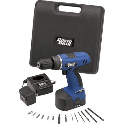 - Powersmith Cordless Drill Kit - 18 Volt, 3/8In. Size, Model# Ps0805K