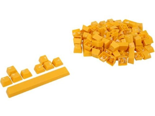 Rosewill 104 Keys Mechanical Double Shot Keycaps With Puller For Mechanical Keyboards, Yellow (Rikc-13005)