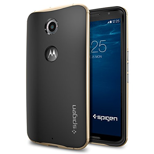 Spigen-Neo-Hybrid-Nexus-6-Case-with-Flexible-Inner-Protection-and-Reinforced-Hard-Bumper-Frame-for-Google-Nexus-6-2014-Champagne-Gold