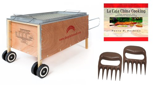 Caja China Roasting Box Pig Roaster 100lbs w/ free Cookbook and Bear Paws (China Box Pig Roaster compare prices)