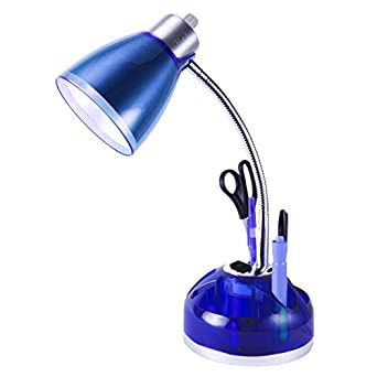 Juicy Organizer Desk Lamp with Charging Outlet (Blue)