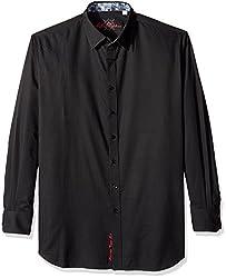 Robert Graham Men's Big Lazzaro, Black, 3XL