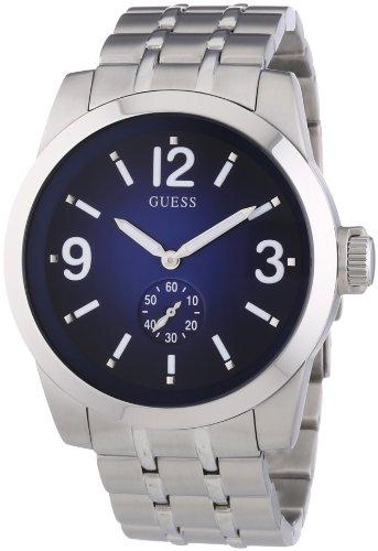 Guess W13571G2 - Reloj analógico de cuarzo para hombre con correa de acero inoxidable, color plateado