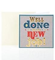 Foiled New Job Greetings Card