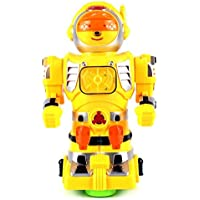 Star Show Robot Battery Operated Bump And Go Toy Robot Figure W/ Flashing Lights, Sounds (Colors May Vary)