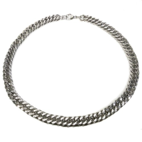 Kaon Stainless Steel Heavy Dense Joint Curb Chain Men Necklace 14MM 22 inches