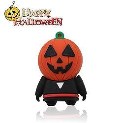 Halloween Shop>Techkey USB Flash Drive,Mr.Halloween Pumpkin Head Costumes Monster,Thanksgiving Gift,64GB